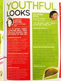 Kathy Divine coverage in women's magazine