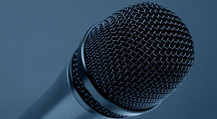 Microphone to illustrate speaking tips for vegan business owners