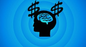 Brain with dollar signs vegan business