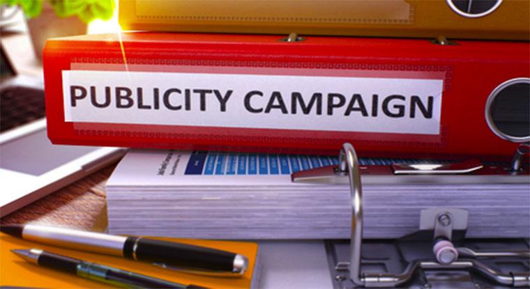 publicity campaign folder