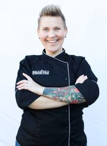 Heidi Lovig of Heidi Ho vegan cheese company for Vegan Business Talk with Katrina Fox of Vegan Business Media