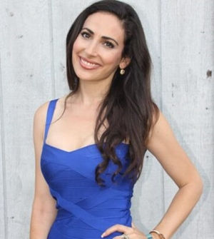 Carissa Kranz vegan attorney wearing blue dress